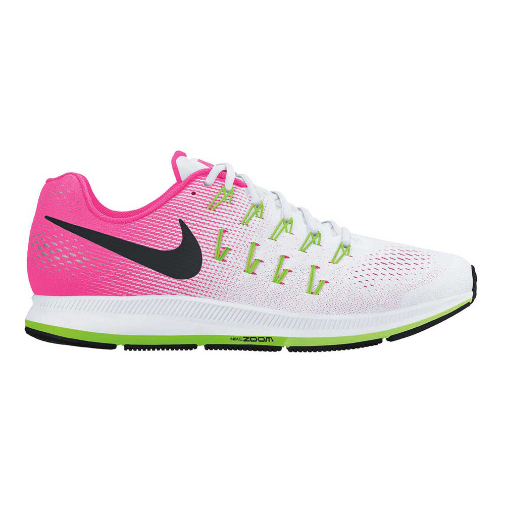 f4a2eeef1b8e Nike Air Zoom Pegasus 33 Womens Running Shoes White   Pink US 6 ...