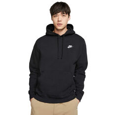 Nike Mens Sportswear Club Fleece Pullover Hoodie Black XS, Black, rebel_hi-res