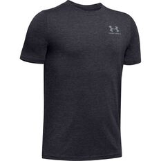 Under Armour Boys Tee Black / Grey XS, Black / Grey, rebel_hi-res