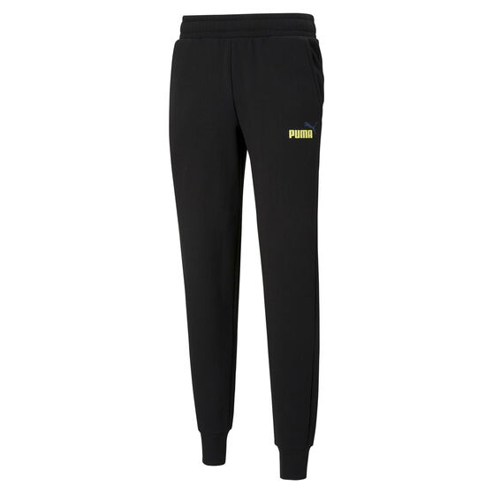 Puma Mens Essential Logo Fleece Track Pants, Black, rebel_hi-res