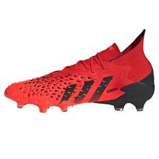 adidas Predator Freak .1 Football Boots Red/Black US Mens 7 / Womens 8, Red/Black, rebel_hi-res