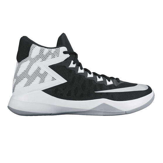 timeless design c1ab1 e6b9e Nike Zoom Devosion Mens Basketball Shoes Black   Silver US 9.5, Black    Silver,