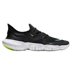 Nike Free RN 5.0 Mens Running Shoes Black / White US 7, Black / White, rebel_hi-res