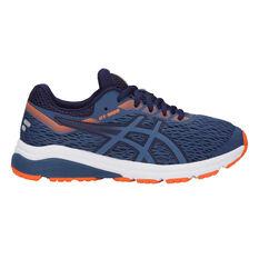 Asics GT 1000 7 Kids Running Shoes Navy / Orange US 4, Navy / Orange, rebel_hi-res