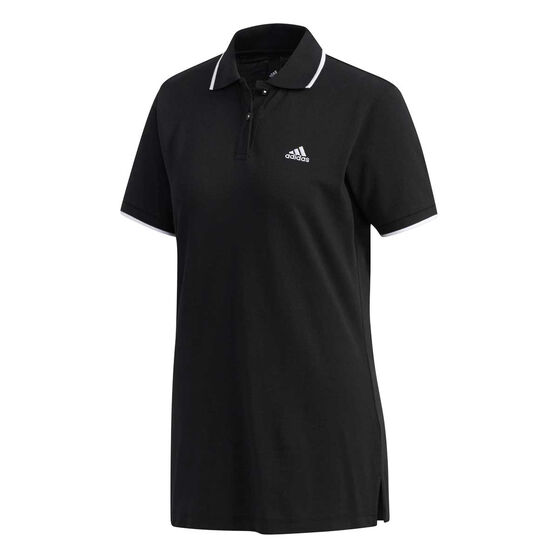 adidas Womens Sport 2 Street Polo, Black, rebel_hi-res