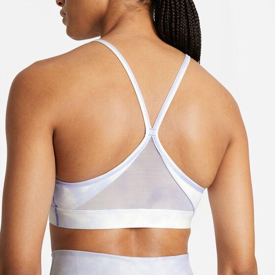 Nike Womens Dri-FIT Indy Icon Clash Padded Sports Bra, Blue, rebel_hi-res