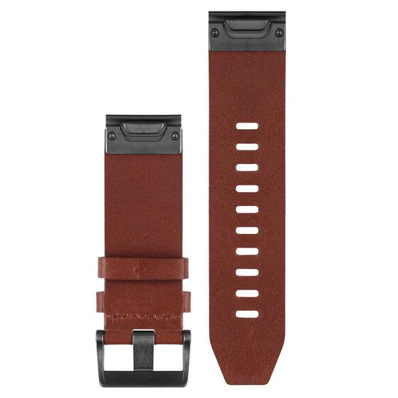 Garmin Fenix 5X QuickFit Leather Band Brown Leather 26mm, , rebel_hi-res