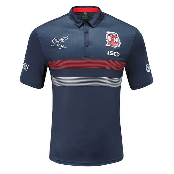 Sydney Roosters 2020 Mens Performance Polo, Navy, rebel_hi-res