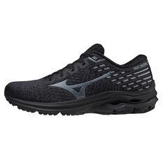 Mizuno Wave Inspire 17 Waveknit Mens Running Shoes Black US 8, Black, rebel_hi-res