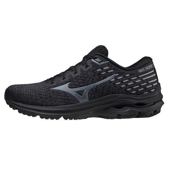 Mizuno Wave Inspire 17 Waveknit Mens Running Shoes, Black, rebel_hi-res