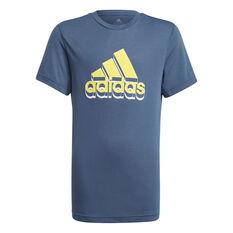 Adidas Boys Aeroready Prime Tee, Navy, rebel_hi-res