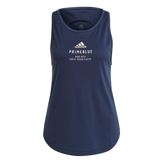 adidas Womens Run For The Oceans Graphic Tank, Navy, rebel_hi-res