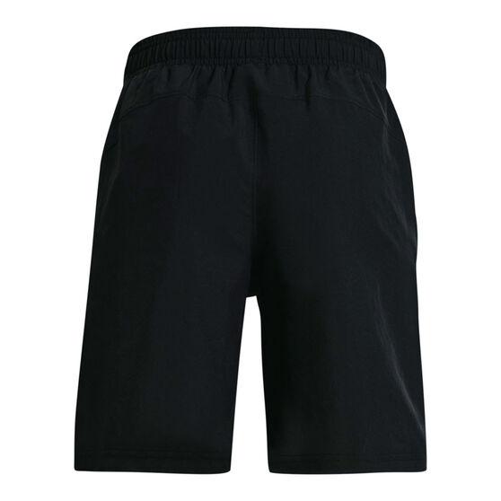 Under Armour Boys Woven Wordmark Shorts, Black, rebel_hi-res