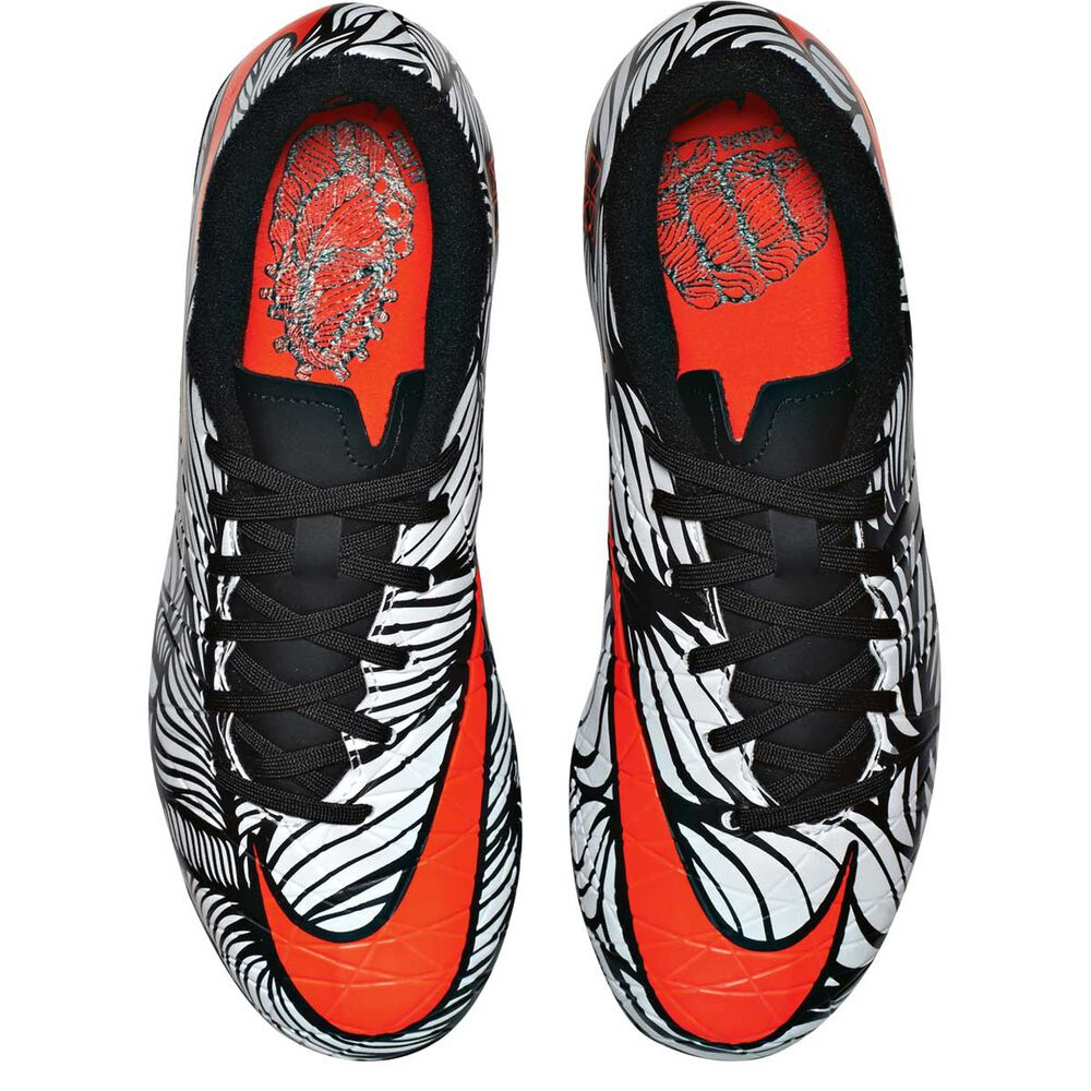 074d34c87980 Nike Neymar HyperVenom Phelon II Junior Football Boots White   Black US 12  Junior