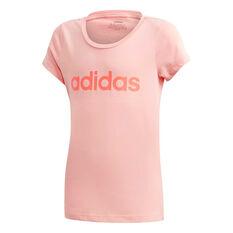adidas Girls Essentials Linear Tee Pink 5, Pink, rebel_hi-res