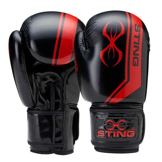 Sting Armalite Boxing Gloves, Black/Red, rebel_hi-res
