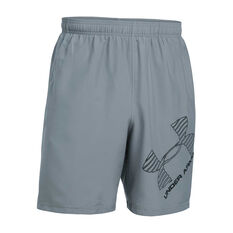 Under Armour Mens UA Graphic Woven Training Shorts Grey XS Adult, Grey, rebel_hi-res