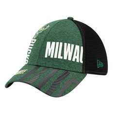 Milwaukee Bucks New Era 39THIRTY Tip Off Cap Green/Black S/M, Green/Black, rebel_hi-res