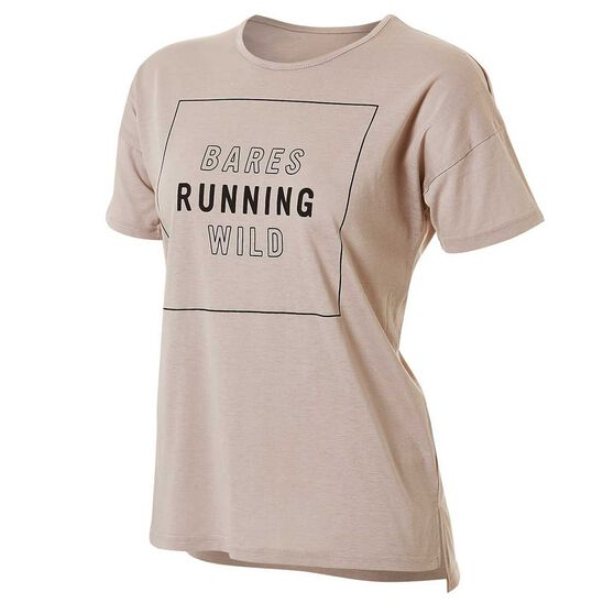 Running Bare Womens What A Racquet Tee Cream 10, Cream, rebel_hi-res