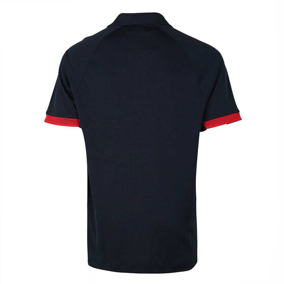 Essendon Bombers 2020 Mens Media Polo, Black / Red, rebel_hi-res