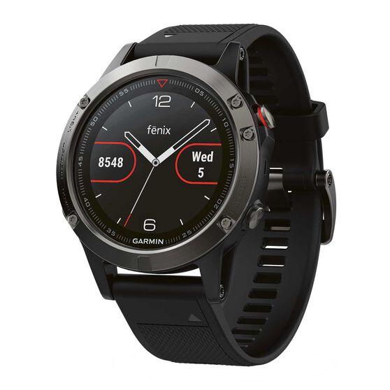 Garmin Fenix 5 GPS Heart Rate Watch Slate Grey / Black, , rebel_hi-res