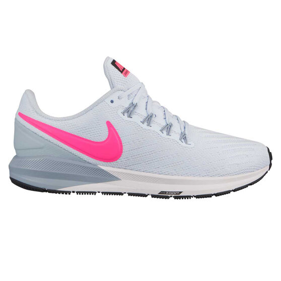 Nike Air Zoom Structure 22 Womens Running Shoes, Blue / Pink, rebel_hi-res