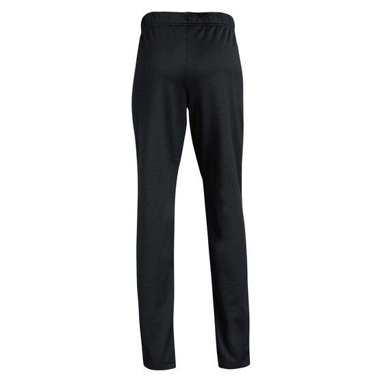 Under Armour Girls Trackpants, Black / White, rebel_hi-res