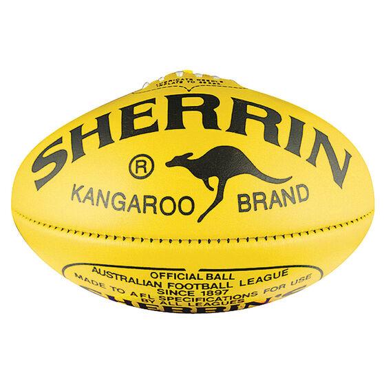 Sherrin KB Australian Rules Football Yellow 5, Yellow, rebel_hi-res