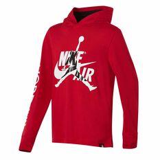 Nike Boys Jordan Jumpman Classics Hoodie Red / Black S, Red / Black, rebel_hi-res