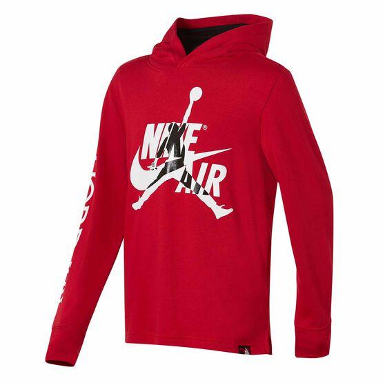 Nike Boys Jordan Jumpman Classics Hoodie, Red / Black, rebel_hi-res