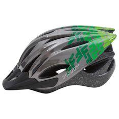Flight Explorer Kids Bike Helmet Charcoal / Green 51 to 55cm, , rebel_hi-res