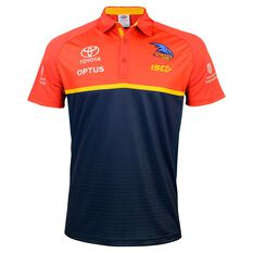 Adelaide Crows 2020 Mens Performance Polo Shirt, Navy, rebel_hi-res