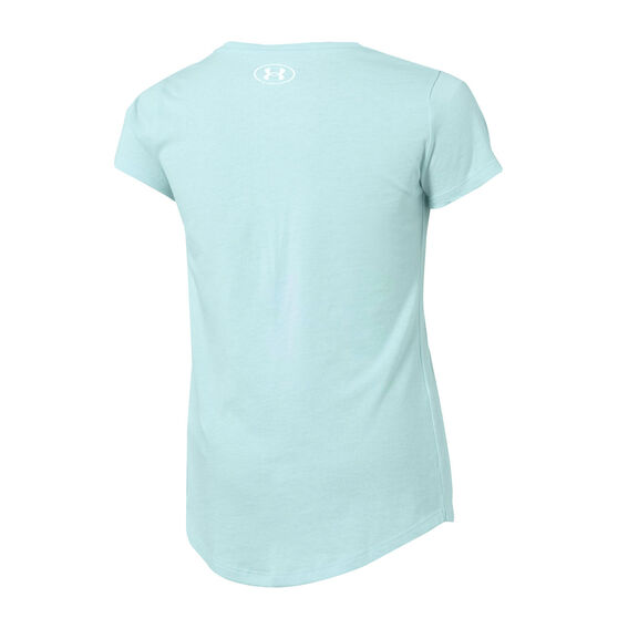 Under Armour Girls Live Sportstyle SS Graphic Tee, Green, rebel_hi-res