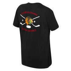 Chicago Blackhawks Mens Kardy Tee Black S, Black, rebel_hi-res
