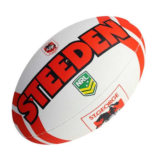 Steeden NRL St. George Illawarra Dragons Supporter Rugby League Ball, , rebel_hi-res