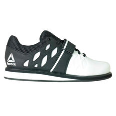 Reebok Lifter PR Mens Training Shoes White/Black US 8, White/Black, rebel_hi-res