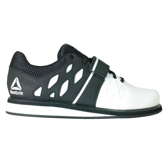 Reebok Lifter PR Mens Training Shoes, White/Black, rebel_hi-res