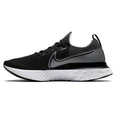 Nike React Infinity Run Flyknit Mens Running Shoes Black/White US 7, Black/White, rebel_hi-res