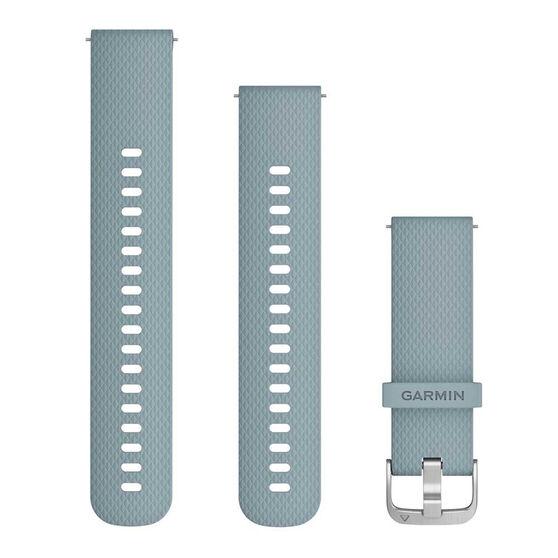 Garmin Quick Release 20mm Sea Foam / Silver Watch Band 2 sizes, , rebel_hi-res