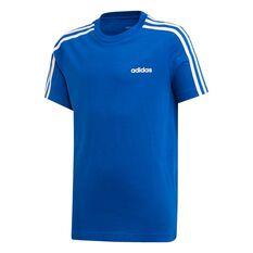 adidas Boys Essential 3 Stripes Tee Royal Blue / White 6, , rebel_hi-res