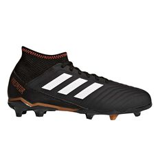 adidas Predator 18.3 Junior Football Boots Black / White US 11 Junior, Black / White, rebel_hi-res