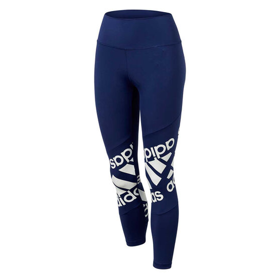 adidas Womens Believe This Disrupt Tights, Navy, rebel_hi-res