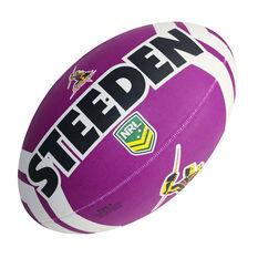 Steeden NRL Melbourne Storm Supporter Rugby League Ball, , rebel_hi-res