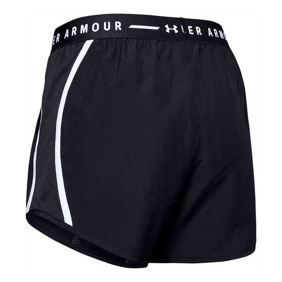 Under Armour Womens UA Fly By Exposed Shorts, Black, rebel_hi-res
