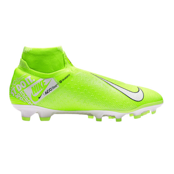 Nike Phantom Vision Elite Dynamic Fit Football Boots, Green / White, rebel_hi-res