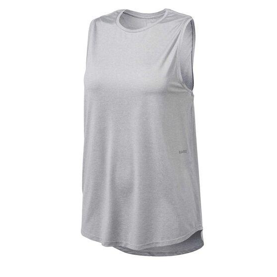 Ell & Voo Womens Sammie Muscle Tank, Silver, rebel_hi-res