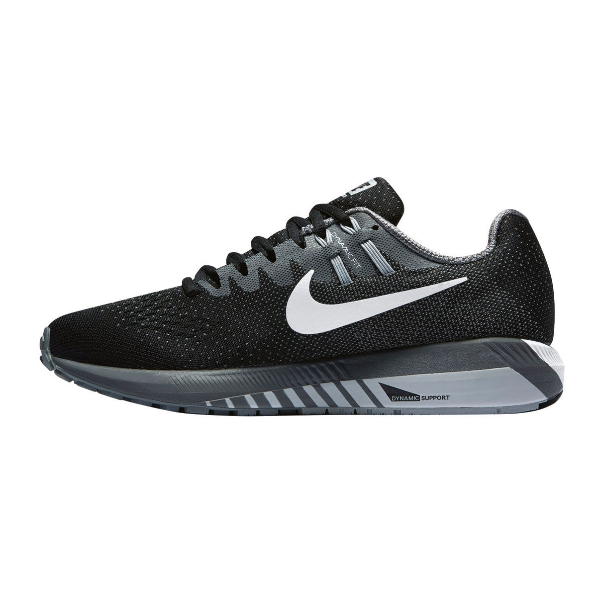 Nike Air Zoom Structure 20 Womens Running Shoes Black White US 8