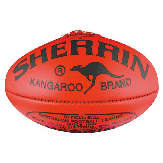Sherrin KB Australian Rules Football Red 5, Red, rebel_hi-res