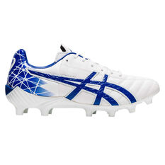 Asics Lethal Tigreor IT Football Boots White / Blue US Mens 6 / Womens 7.5, White / Blue, rebel_hi-res