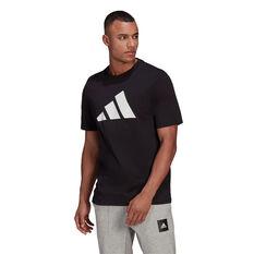 adidas Mens FI Badge of Sport Tee Black S, Black, rebel_hi-res